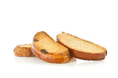 Crackers with sweet raisins Stock Photos
