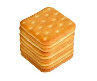 Crackers on white Royalty Free Stock Photography