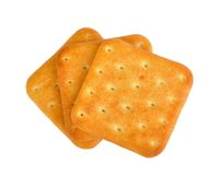 Crackers on white Stock Photo