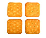 Crackers on white Royalty Free Stock Photo