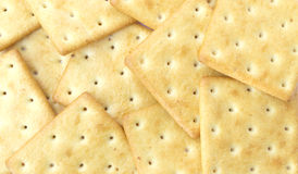 Crackers. On a white backgrond Royalty Free Stock Photos