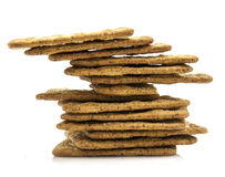 Crackers on a white background Stock Images