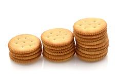 Crackers on white background Stock Photo