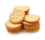 Crackers on white background Stock Photos