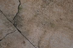 Cracking cement floor Royalty Free Stock Images