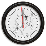 Cracking clock Stock Image