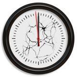 Cracking clock Stock Image