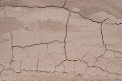 Cracking Dirt in Desert Wash Texture. Background Royalty Free Stock Photography