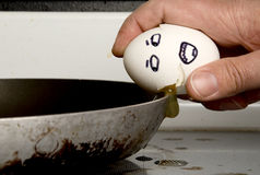 Cracking an Egg Royalty Free Stock Photo