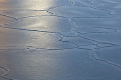 Cracking ice Royalty Free Stock Images