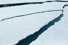 Cracking Ice in Glacier Bay Stock Photos