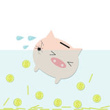 Cracking piggy bank Stock Images