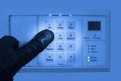 Cracking security code Stock Images