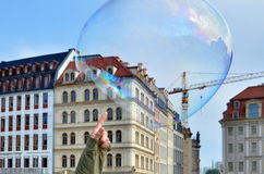 Cracking the soap bubble Royalty Free Stock Images