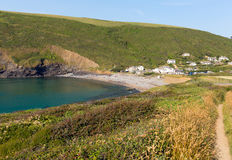 Crackington Haven beach North Cornwall between Bude and Tintagel  England UK South West Coast Path Stock Photography