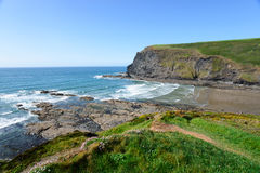 Crackington Haven in Cornwall Royalty Free Stock Image