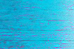 Crackle painted turquoise blue wood texture Royalty Free Stock Images