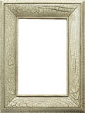 Crackled faux finish frame. A frame with distressed faux crackled finish, with room for picture Royalty Free Stock Image