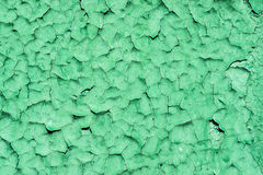 Crackled green paint texture Royalty Free Stock Photos