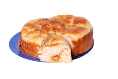 Crackling bread. Fresh and hot batch of tasty bread stock photo