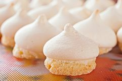 Crackling Cookies With A Cap-meringue Stock Photo
