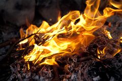 Crackling fire Royalty Free Stock Photography