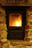 Crackling fire - cozy atmosphere Royalty Free Stock Photography