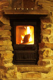 Crackling fire - cozy atmosphere Royalty Free Stock Photos