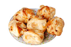 Crackling roll. Fresh and hot batch of tasty roll stock images