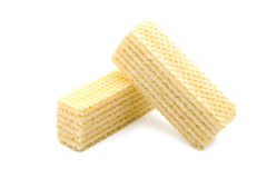 Crackling wafers. Isolated crackling wafers on a white background royalty free stock images