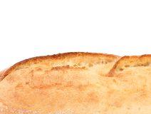 Crackling white bread. Close up. Royalty Free Stock Images