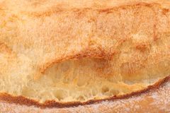 Crackling white bread. Close up Stock Images