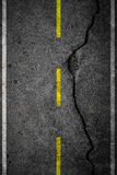 Cracks on asphalt Stock Photography