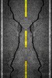 Cracks on asphalt Royalty Free Stock Photos