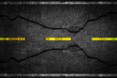 Cracks on asphalt Royalty Free Stock Photo