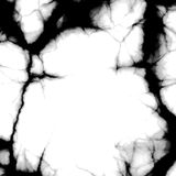 Cracks border. Deep black cracks on surface Royalty Free Stock Images