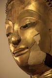 Cracks of Buddha statue Face Stock Photography