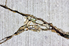 Cracks in concrete Royalty Free Stock Image