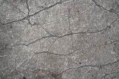 Cracks in a concrete floor Stock Photography
