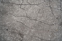Cracks in a concrete floor Royalty Free Stock Image