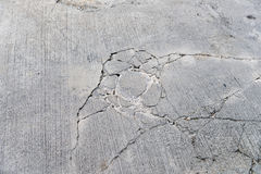 Cracks on concrete road. Top view of cracks on concrete road Stock Image