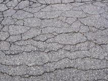 Cracks. Cracked asphalt pavement as a background Stock Images