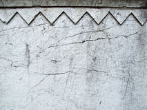 Cracks on a decorative old wall Royalty Free Stock Images