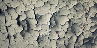 Cracks in the dried soil. Aged photo. Stock Photography