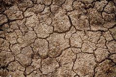 Cracks in the dried soil for texture Royalty Free Stock Photos