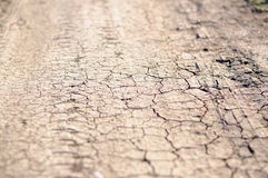 Cracks on dry land Stock Photos