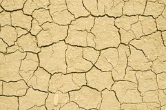 Cracks in dry soil Royalty Free Stock Photography