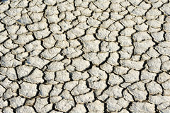 Cracks in dry soil Royalty Free Stock Images
