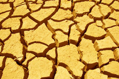 Cracks in the Earth. Dried, draught ridden cracked dirt representing global warming stock images