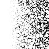 Cracks edge. Deep cracks appearing from one edge Royalty Free Stock Photos